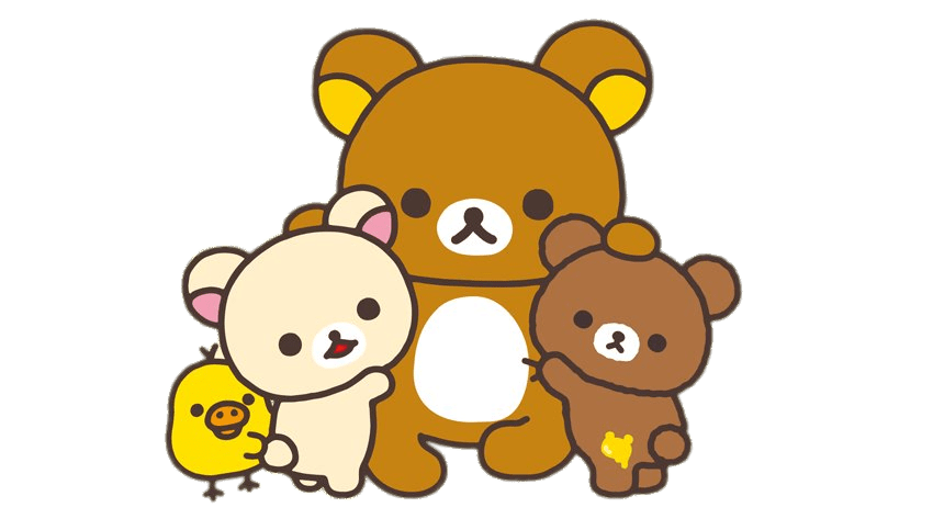 Hug clipart huge. Rilakkuma and friends group
