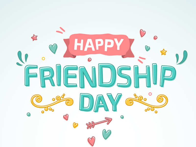 Happy friendship day wishes. Friendly clipart important person