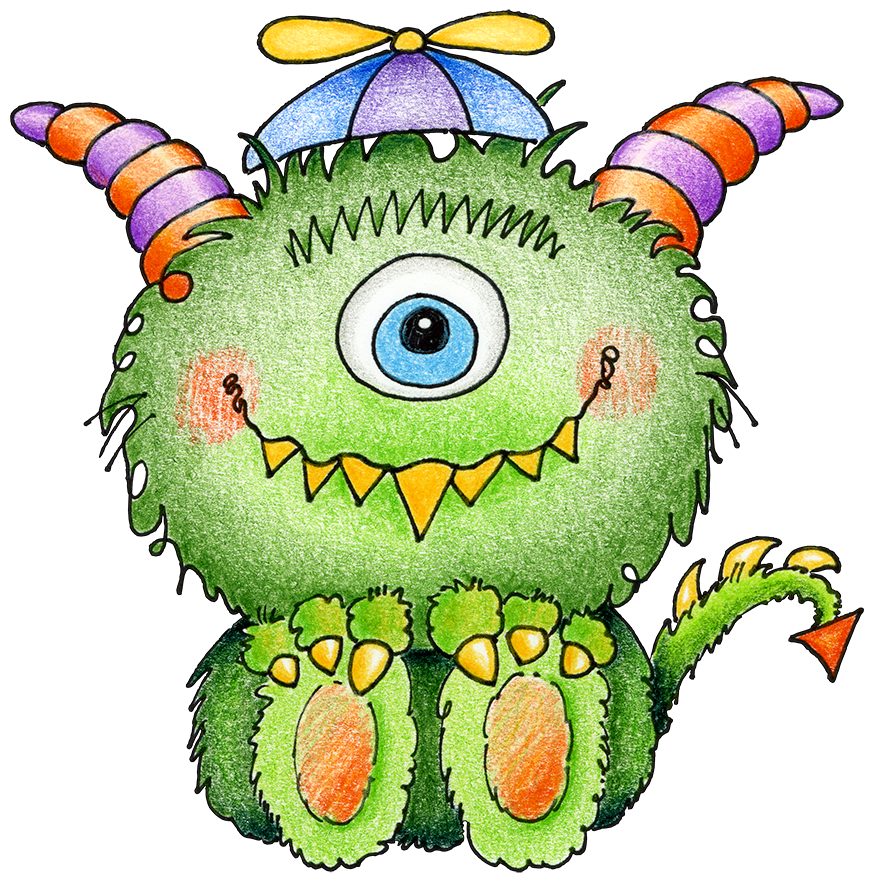 Cute monster cool ideas. Friendly clipart monsters