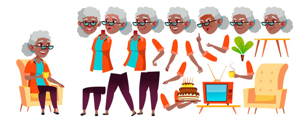 Friendly clipart sociable person. Old woman vector black