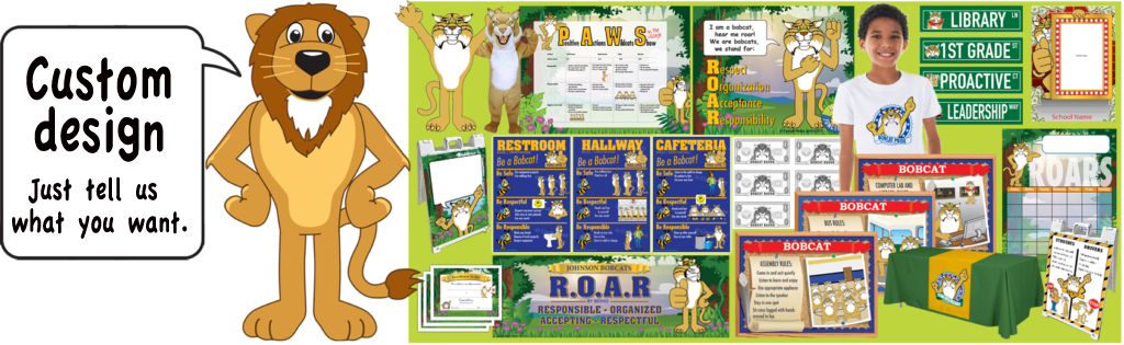 Lion mascot for pbis. Friendly clipart social behavior