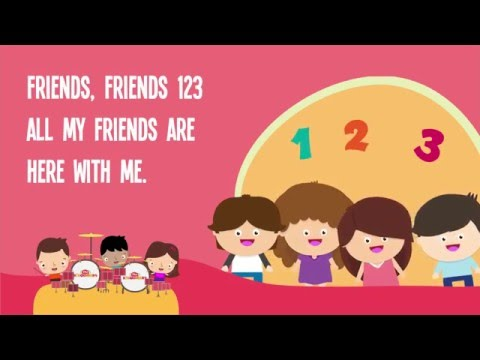 Friendly clipart toddler friend. Friends song for kids