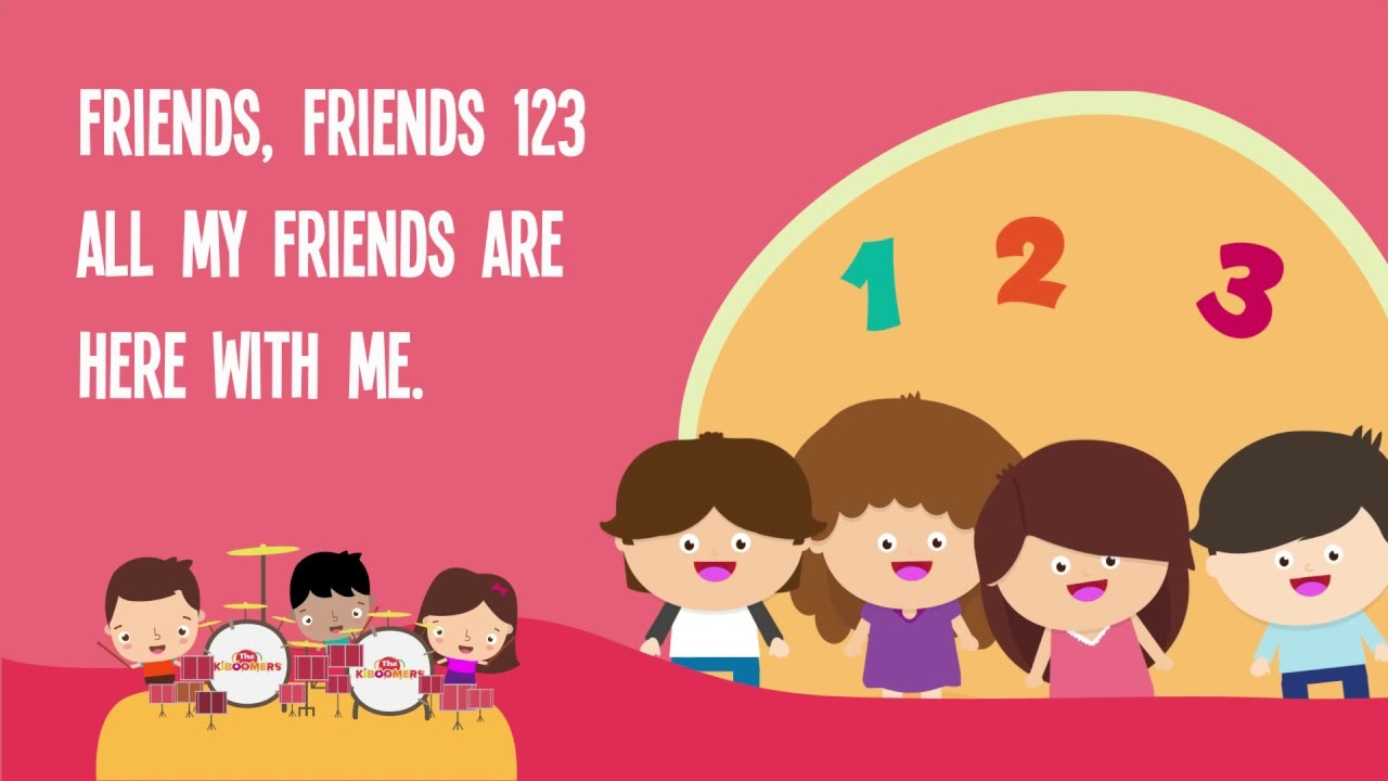 Friendly clipart two friend. Friends song for kids