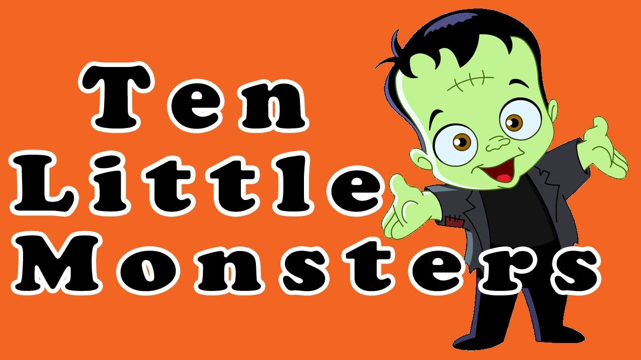 monsters halloween songs. Friendly clipart two little