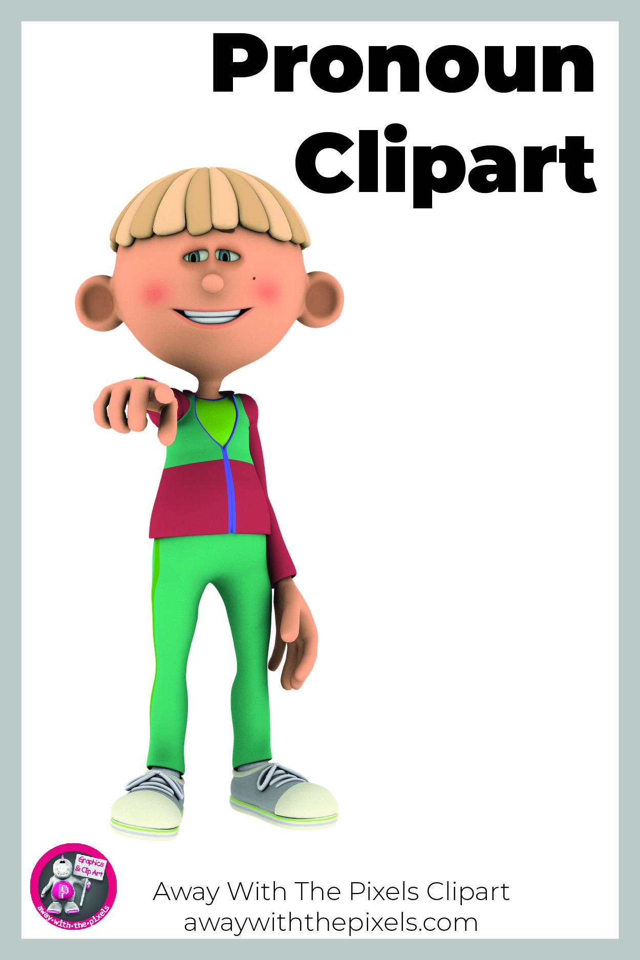 d kids clip. Friendly clipart us pronoun