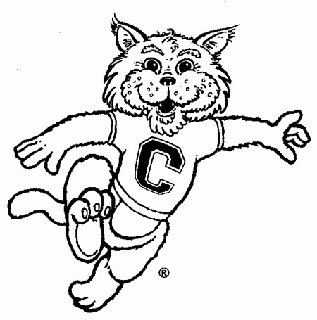 Free mascot download clip. Wildcat clipart friendly
