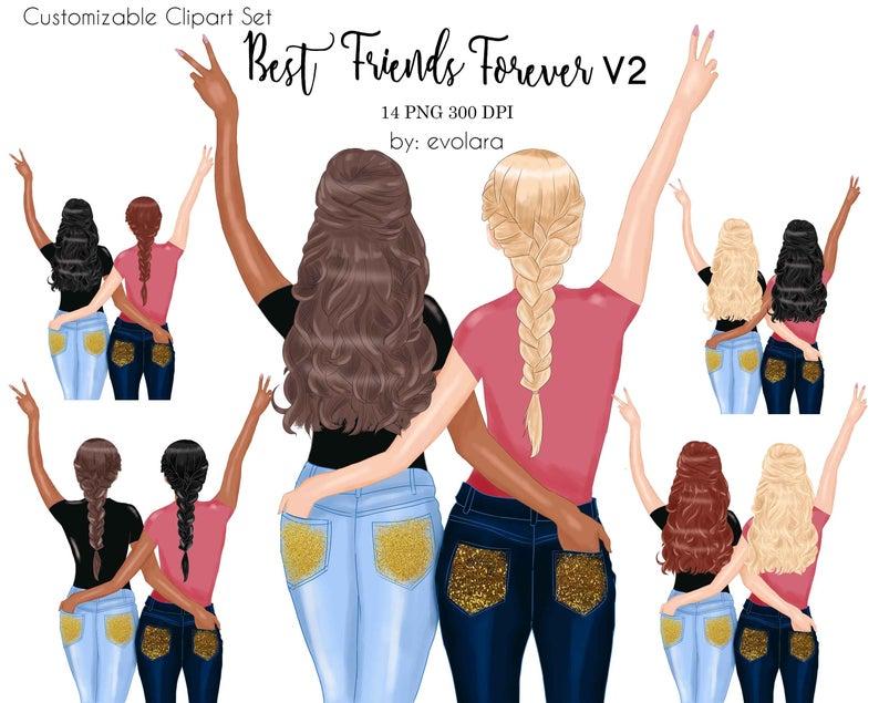 Friends clipart bff. Best besties soul sisters