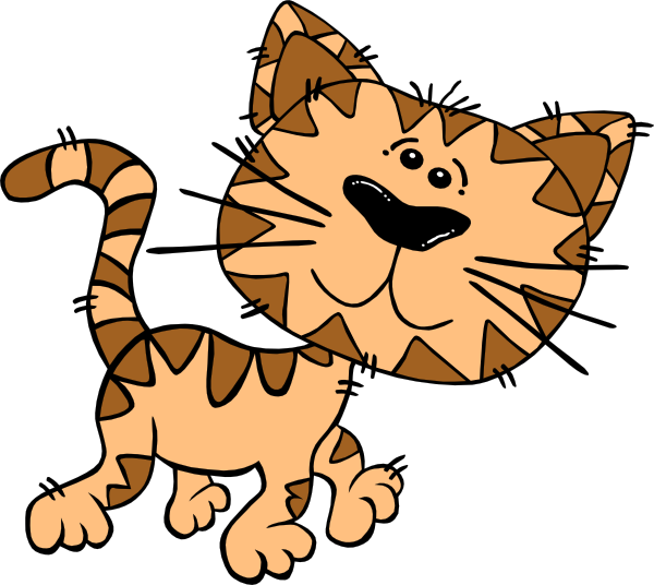 Kitty clipart ball yarn. Cartoon cat walking clip