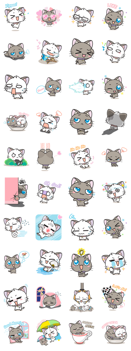 Friends clipart cat.  before and after