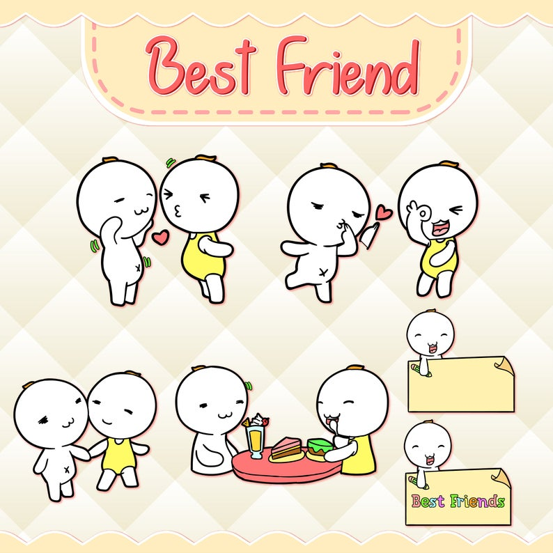 Best friend design download. Friends clipart cute