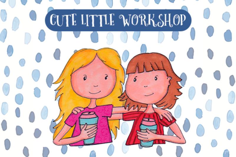Friends clipart cute. Friendship by little workshop