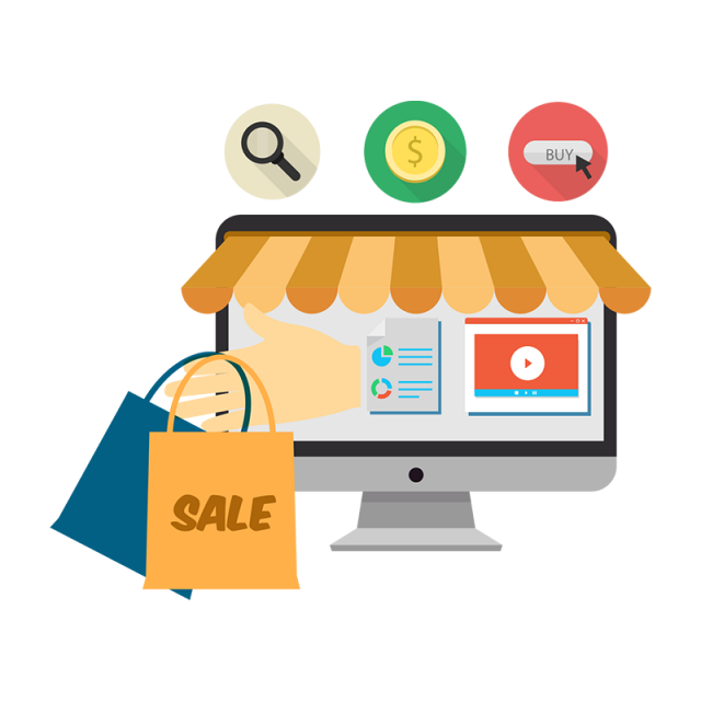 Shopping sale graphic icon. Png to vector online