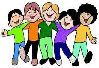 Group clipart childrens. Of friends panda free