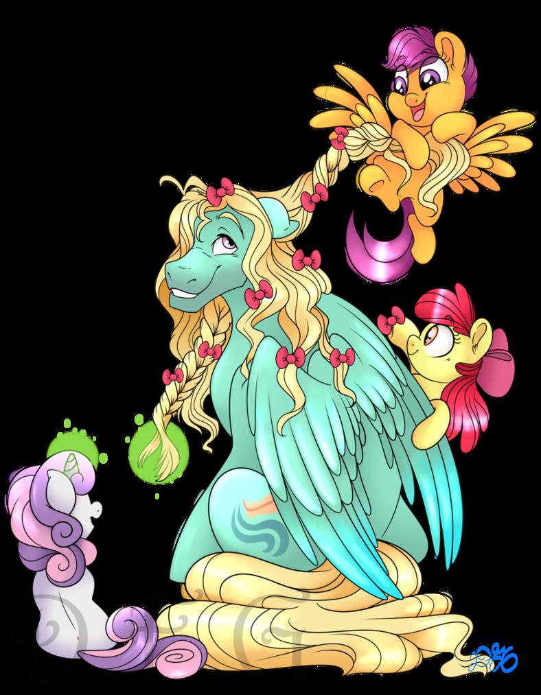 By dragonfoxgirl deviantart com. Friendship clipart babysitting