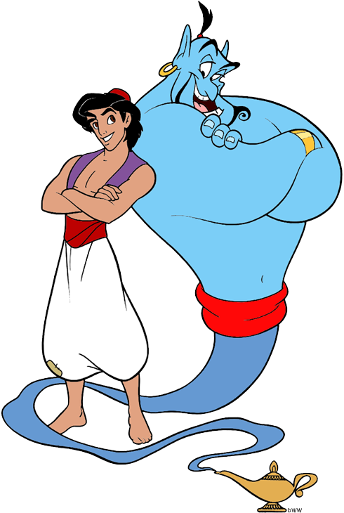 Friendship clipart back to back. Aladdin and friends clip