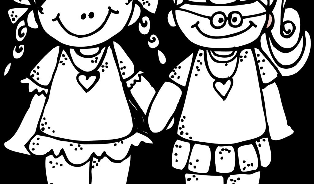 Best friends friend . Friendship clipart black and white