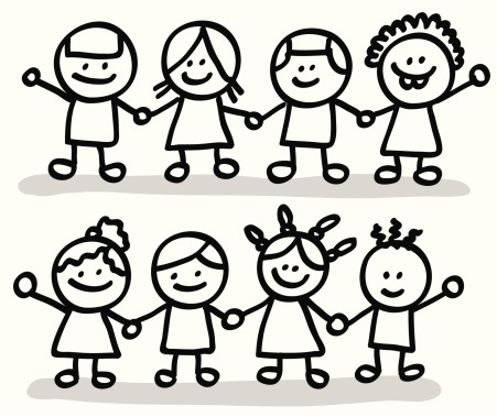 Friendship clipart black and white. Group of friends clip