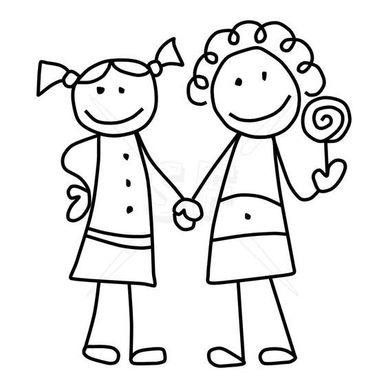 Friendship clipart black and white.  friends clipartlook