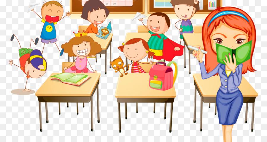 Friendship clipart classroom. Cartoon teacher