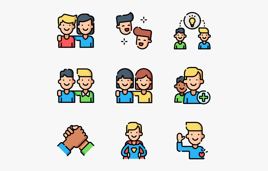 Friendship clipart congenial. Human color icon png