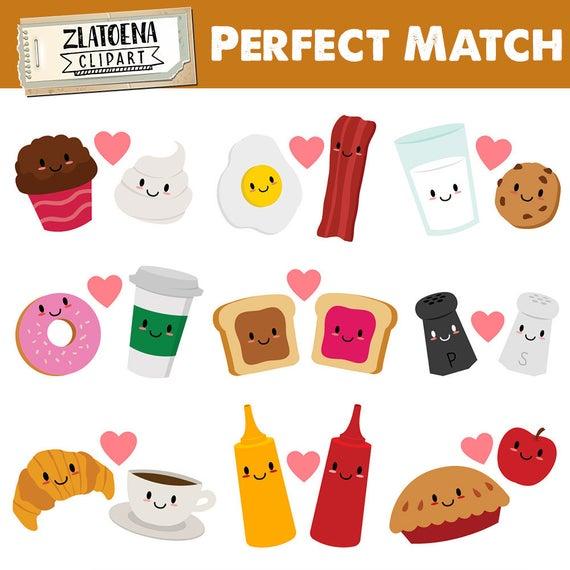 Friendship clipart food. Perfect match clip art
