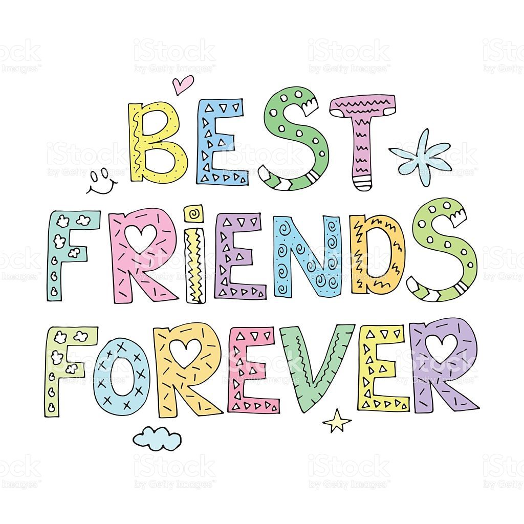 Friendship clipart friend forever. Pin on bff quotes