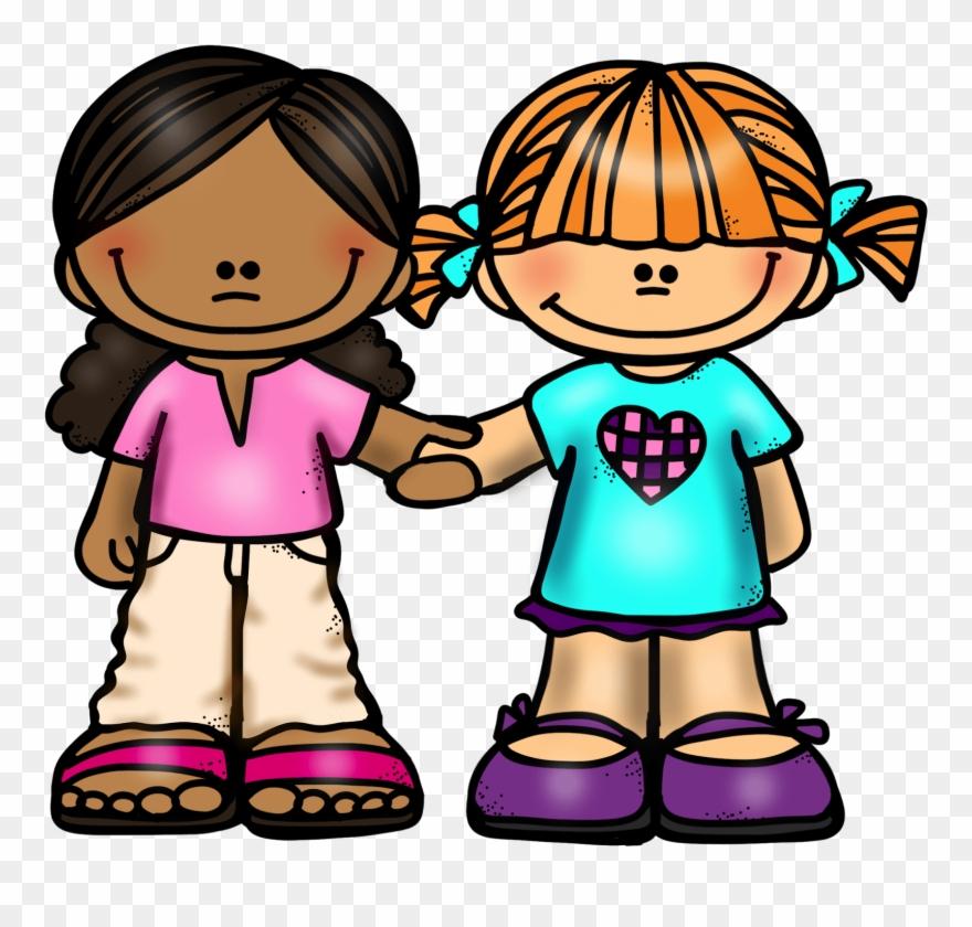 Girl friends holding hands. Friendship clipart friendship hand