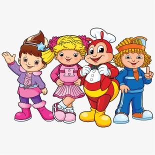Friendship clipart kid fun. Jollibee and friends png