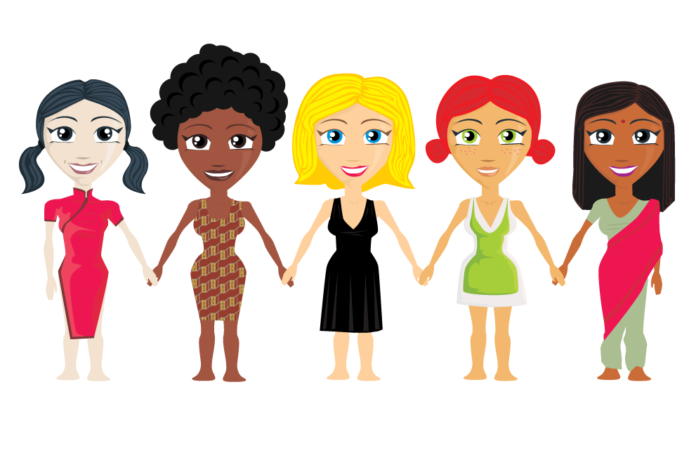 Smg the best shopper. Friendship clipart multicultural