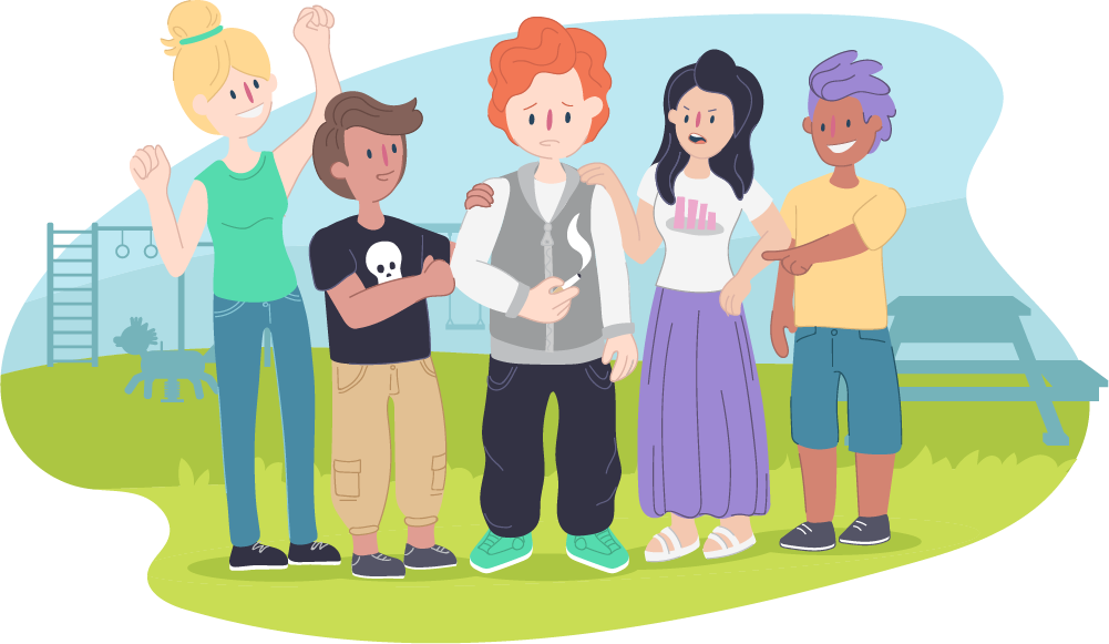 Picture of pressure negative. Friendship clipart peer group