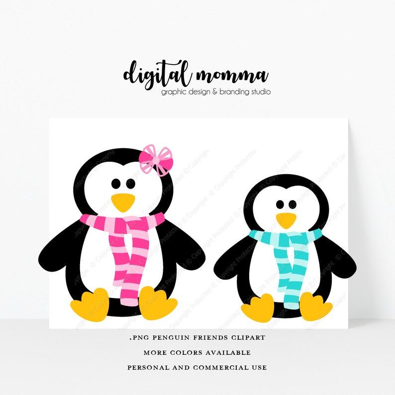 Friends winter png graphics. Friendship clipart penguin friend