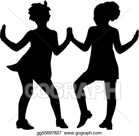 Vector art silhouette friends. Friendship clipart small group