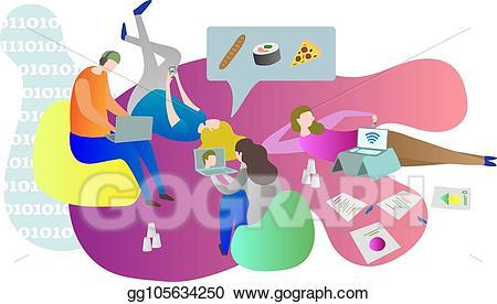Vector friends chilling online. Friendship clipart student friend