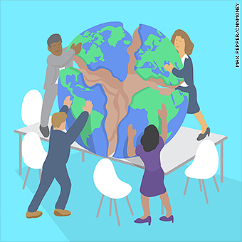 Leaders we must tackle. Friendship clipart world trade