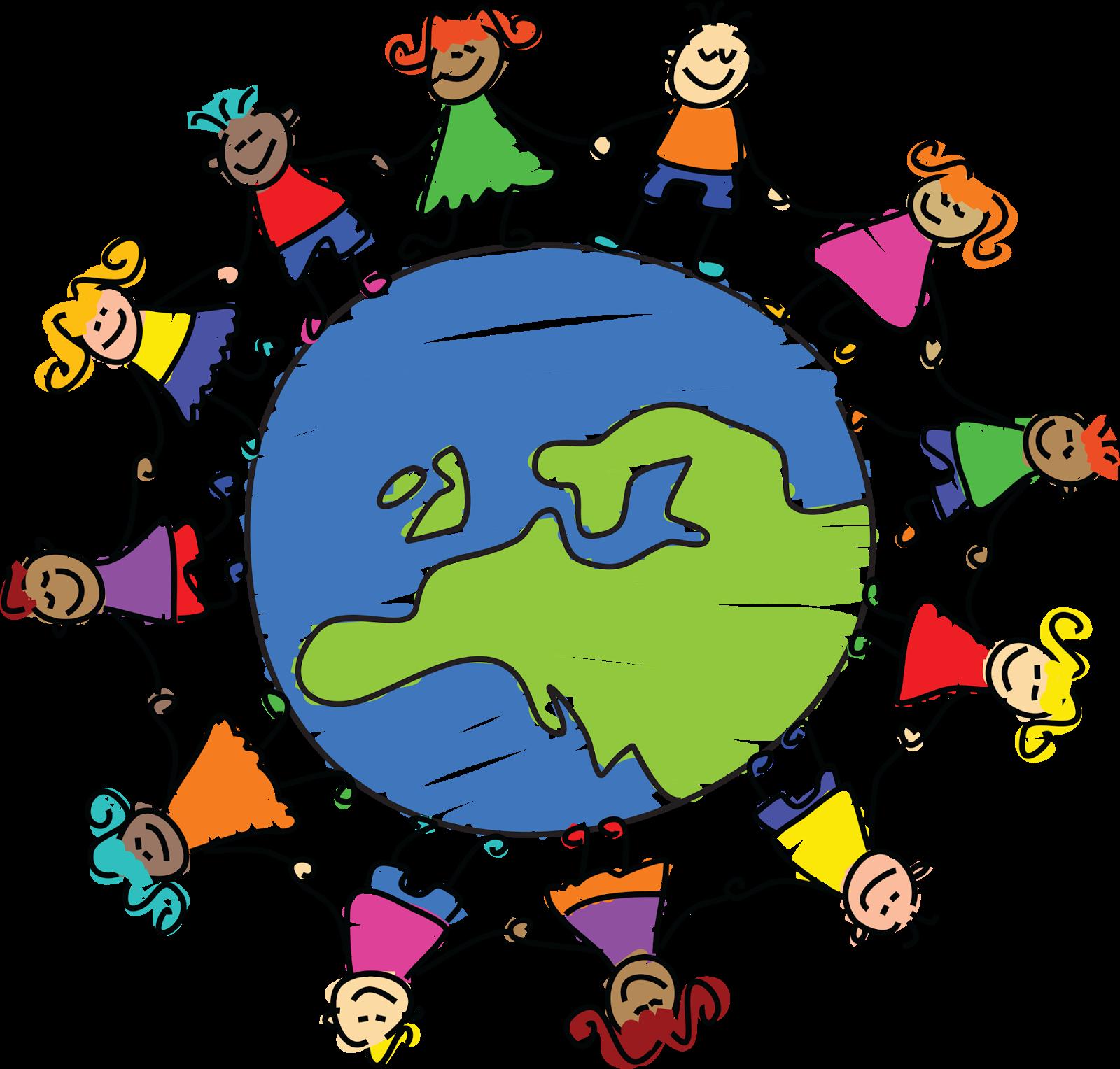 Blogs around the walking. Friendship clipart world unity
