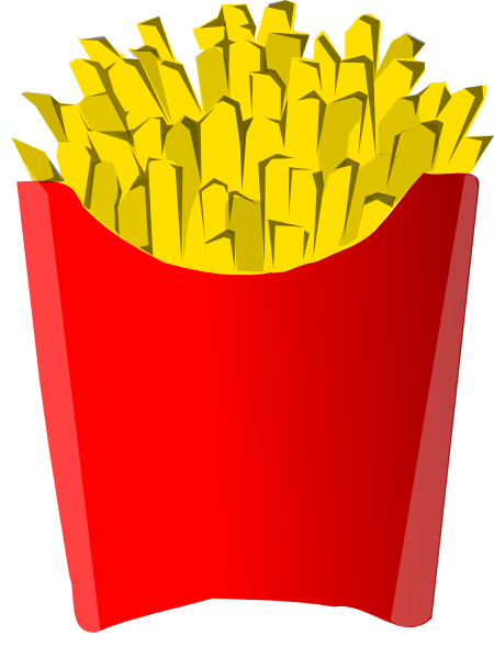 Clip art at clker. Fries clipart