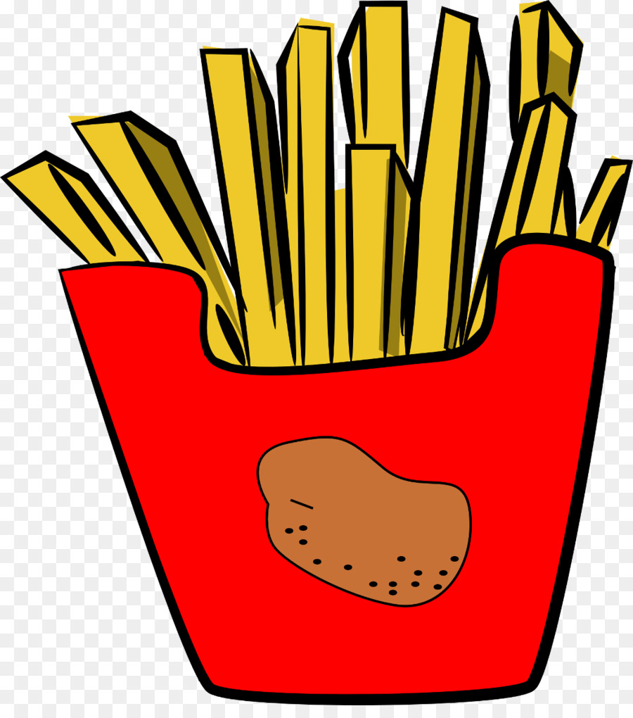 Fries clipart. French hamburger fast food
