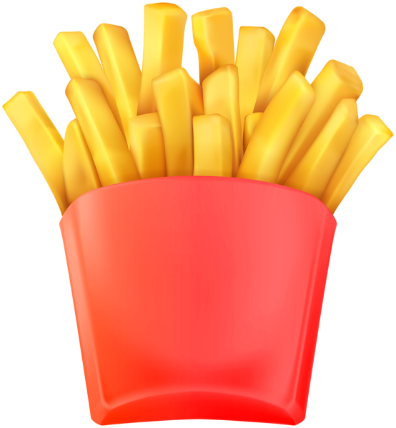 French transparent clip art. Fries clipart