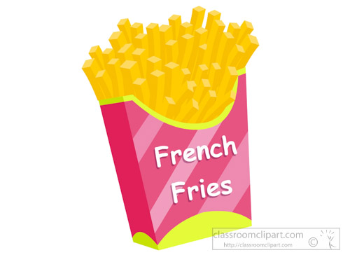 Fast food french classroom. Fries clipart