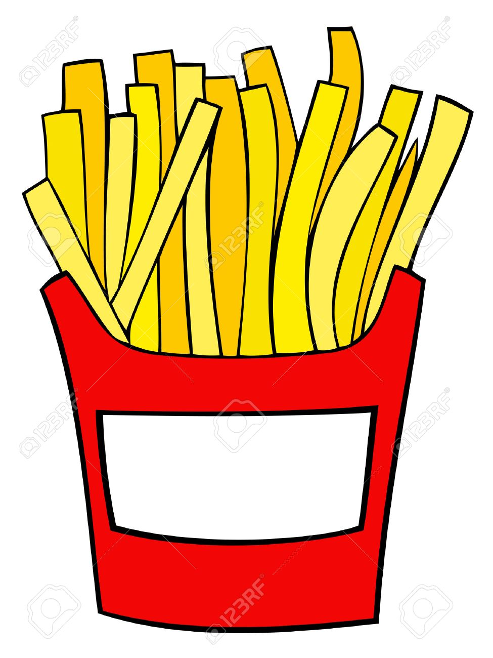 Fries clipart. French station