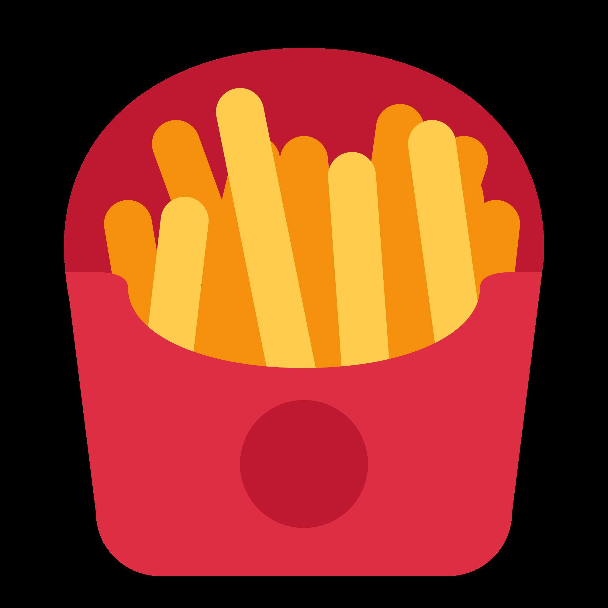 File twemoji f svg. Fries clipart appetizer