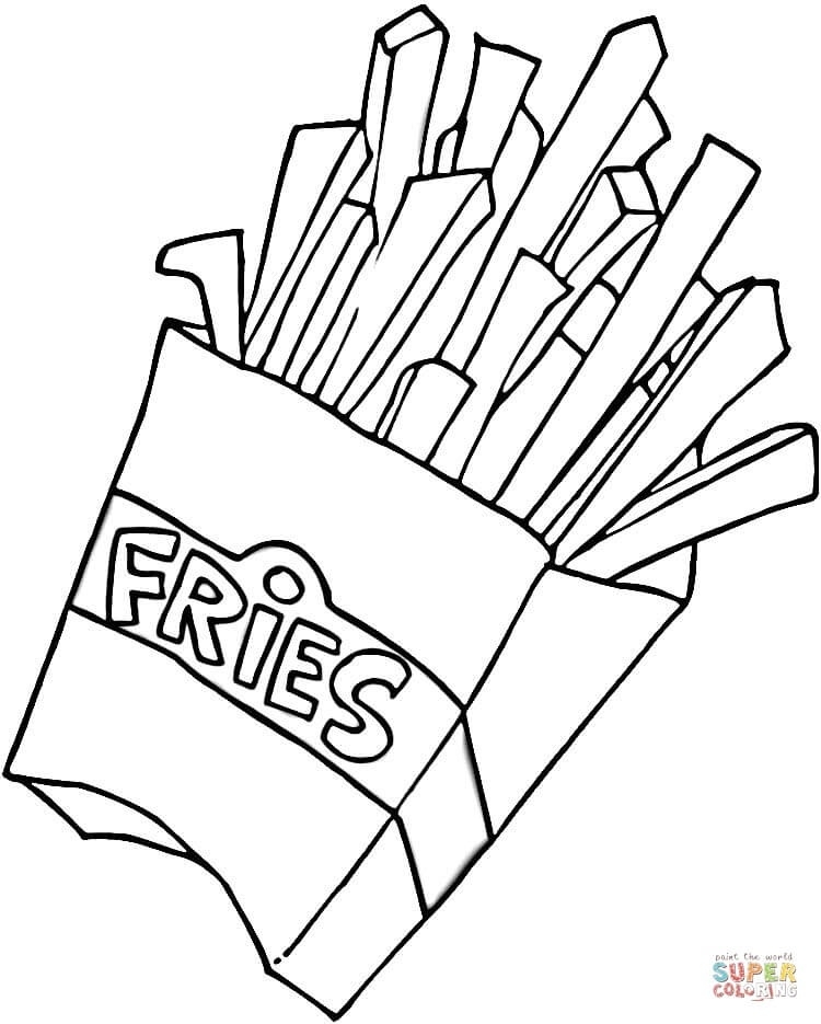 French pencil in color. Fries clipart black and white
