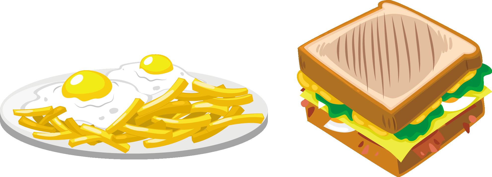 Fast food hamburger french. Fries clipart breakfast