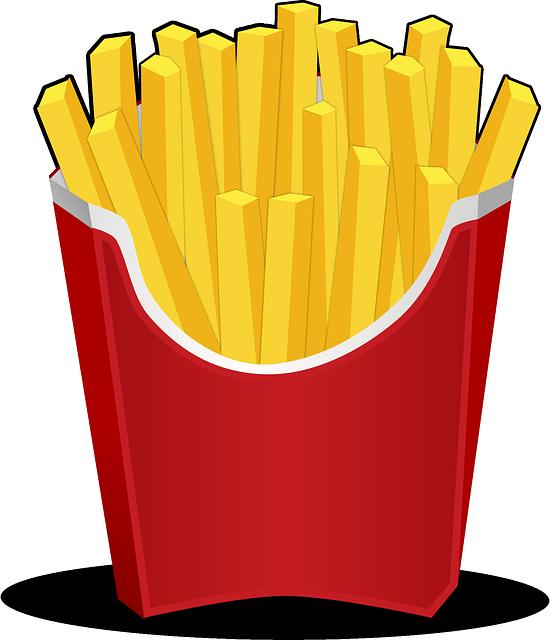 Free photo inside man. Fries clipart burger