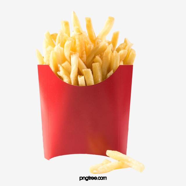 Fries clipart carton. Fried chips in red