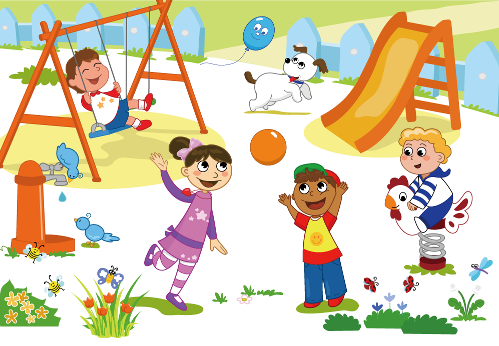 Outside clipart toddler playground. Schoolyard child clip art
