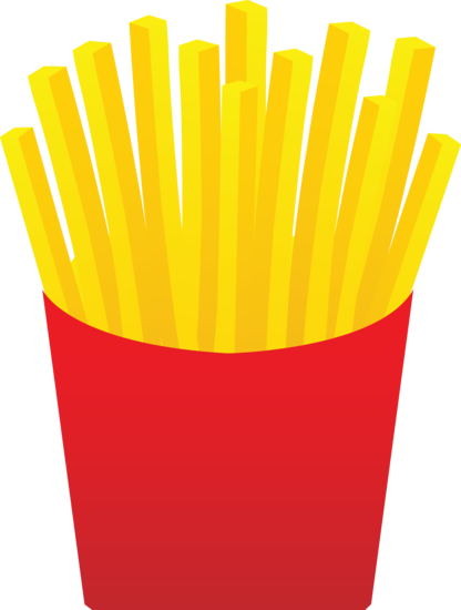 Fries clipart carton. Fast food french free