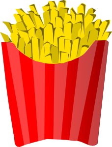 Fries clipart carton. French clip art at