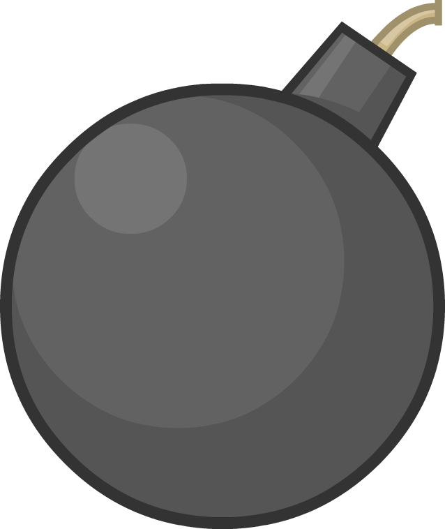 Image bomby short fuse. Fries clipart cookware