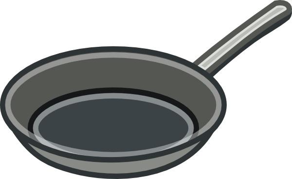 Frying pan clip art. Fries clipart cookware